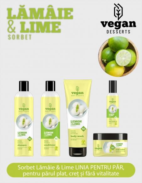 Gama 100% Vegana cu LAMAIE&LIME sorbet pentru tratament intensiv și reparator, păr și piele.